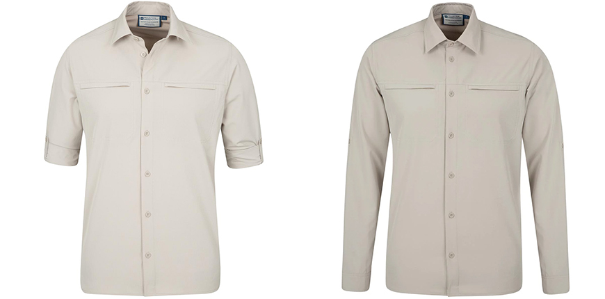mountain warehouse traveling stretch convertible men's shirt