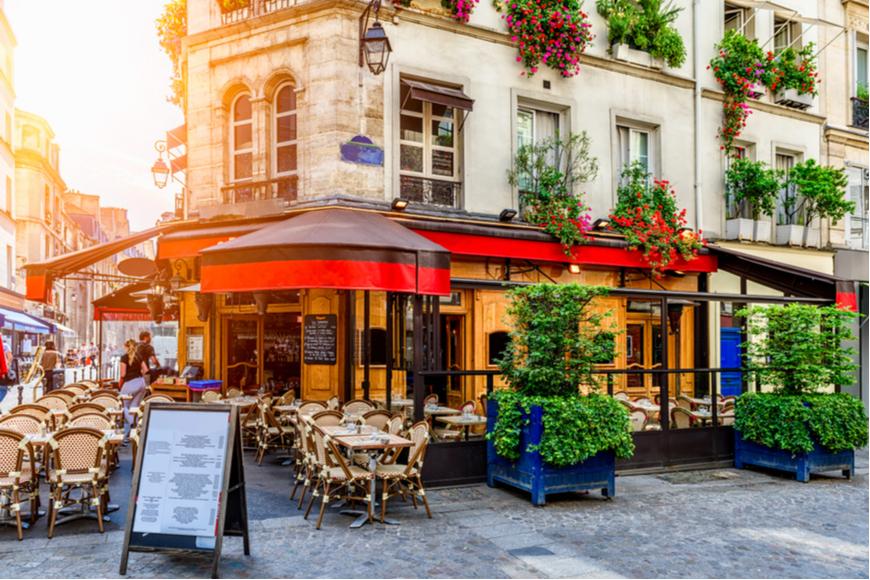 paris france cafe tables.