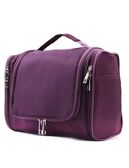 Purple toiletry bag
