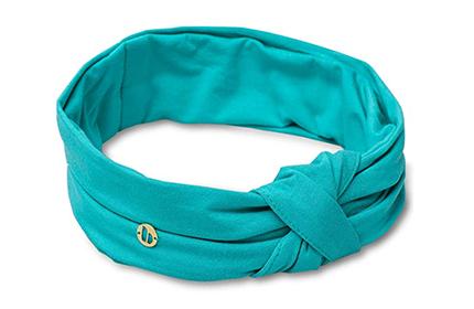 Teal spa headband