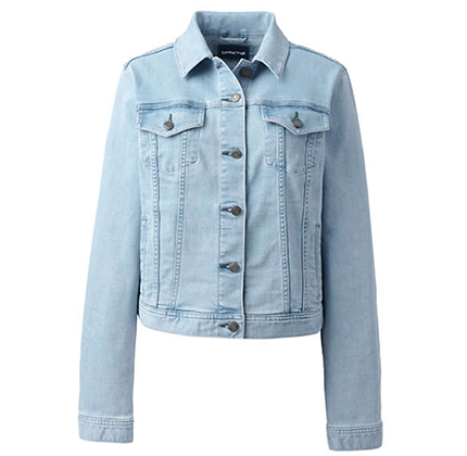 Light blue denim jacket by Lands' End