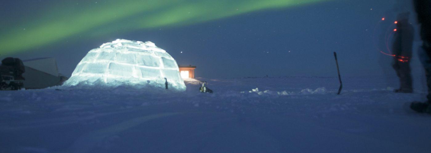 igloo and northern lights