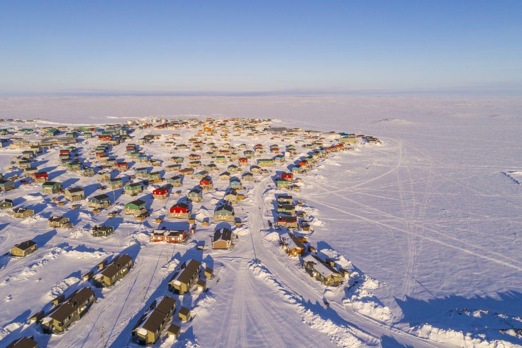 Aerial view of nunavik community
