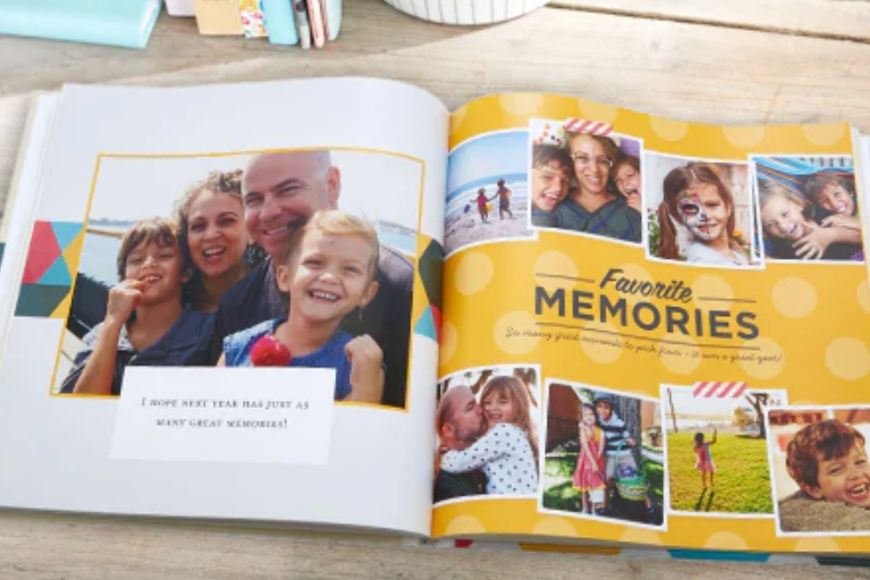 family photo book from shutterfly