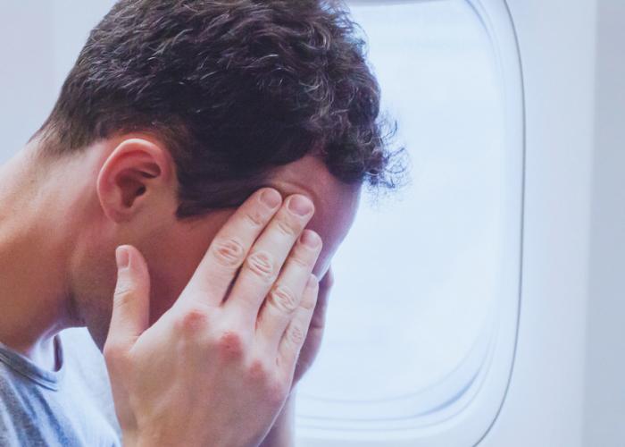man airplane headache