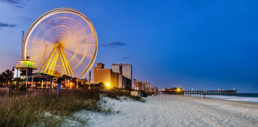 myrtle beach south carolina at night