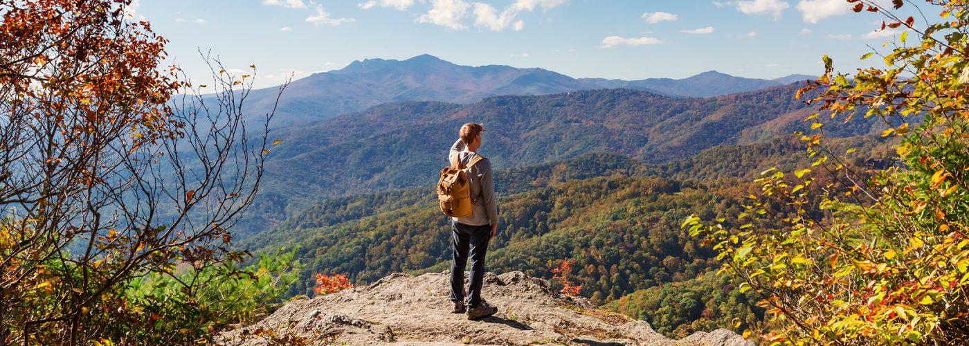 hiker in north carolina