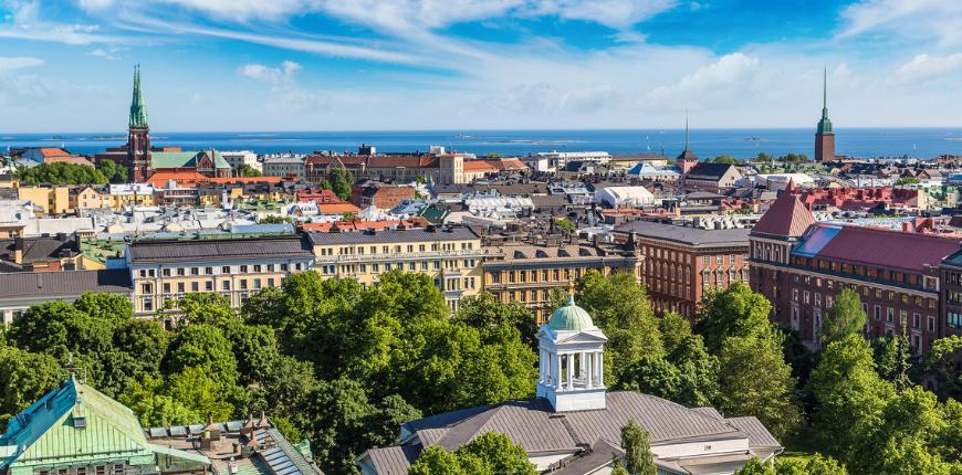 panoramic view helsinki finland