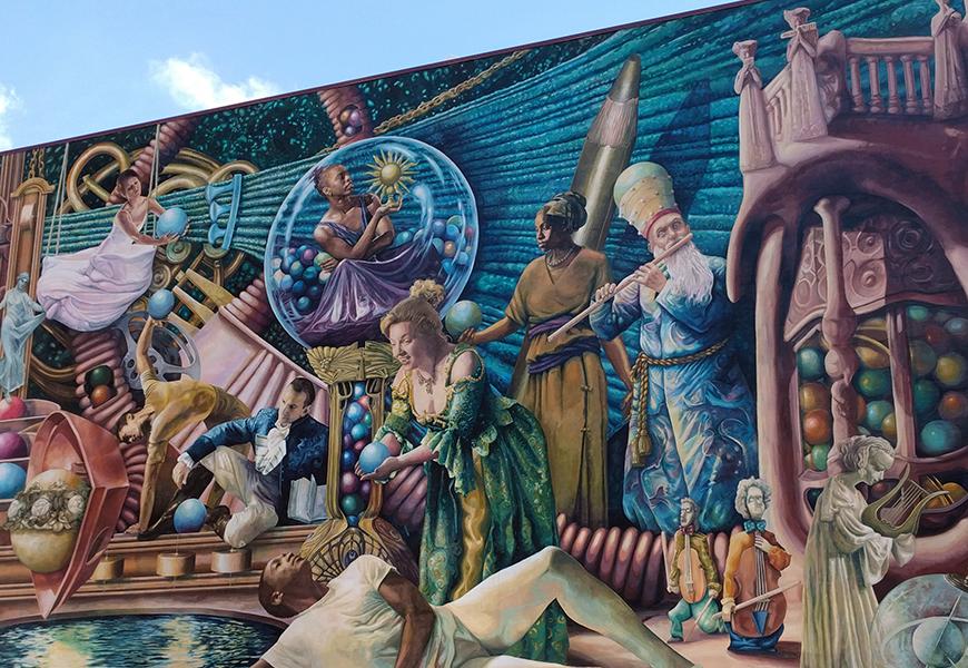 philadelphia muses mural