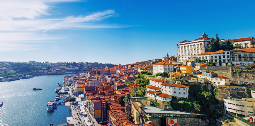 porto portugal old town skyline