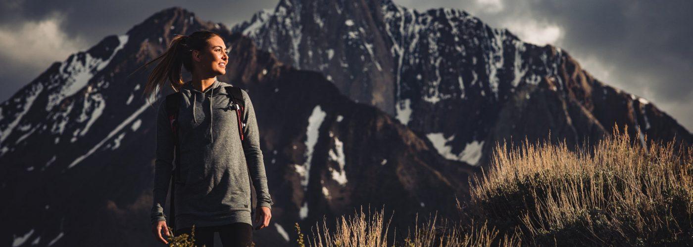 ridge merino tencel merino wool pullover hoodie
