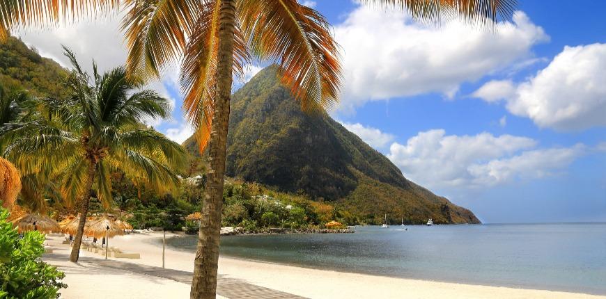 white sand-beach saint lucia caribbean