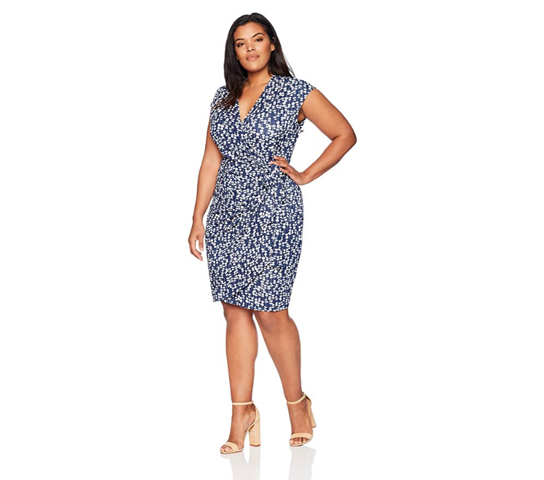 Lark & ro plus size wrap dress