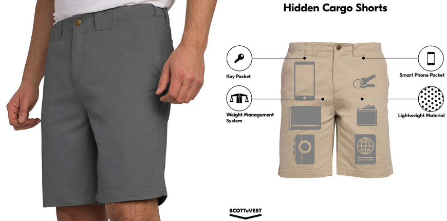 SCOTTeVEST hidden cargo shorts