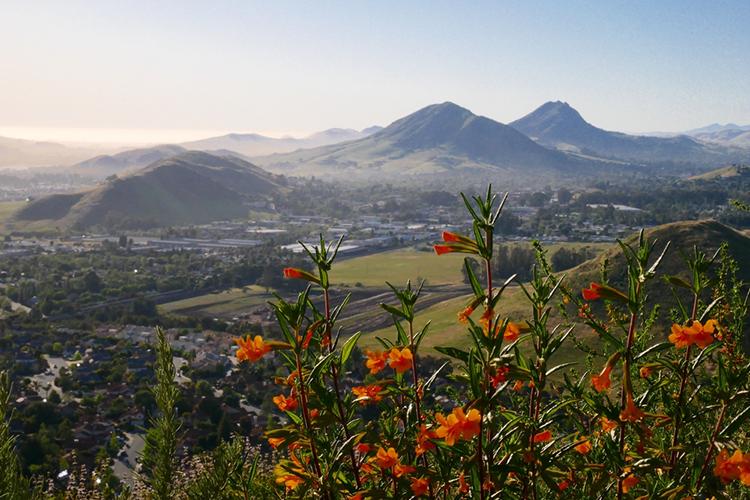 San luis obispo mountains.