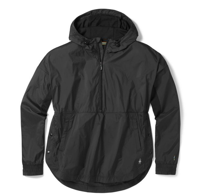 Women's merino sport ultra light anorak pullover.