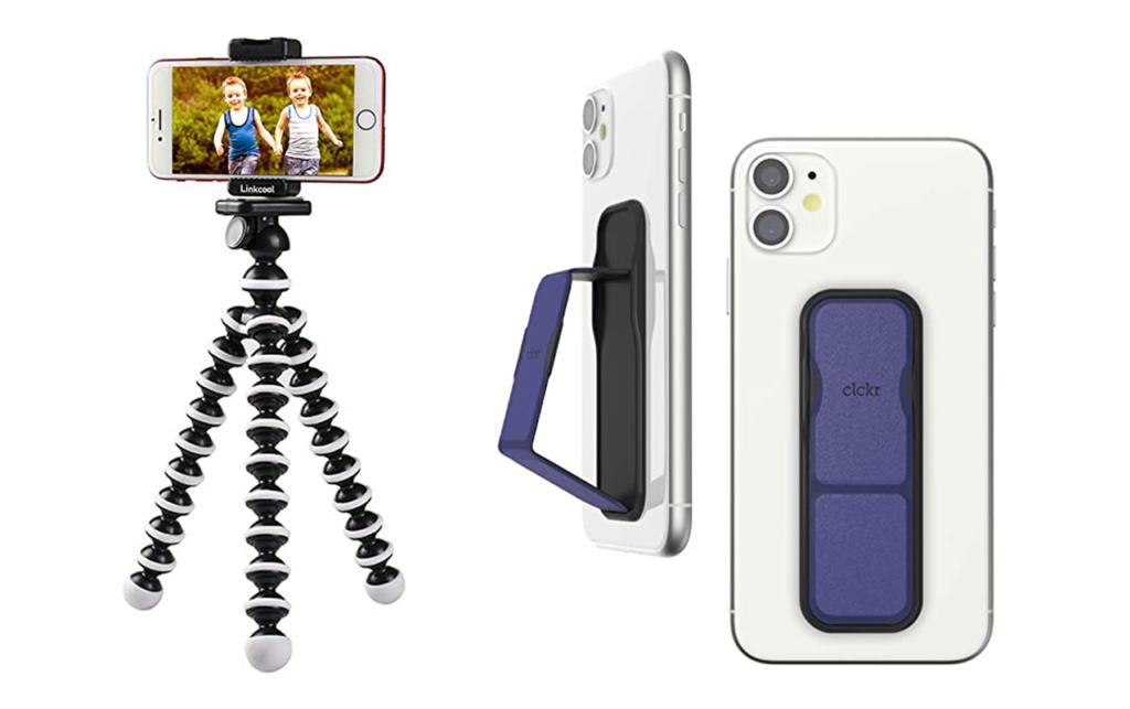 Smartphone tripod and phone grip