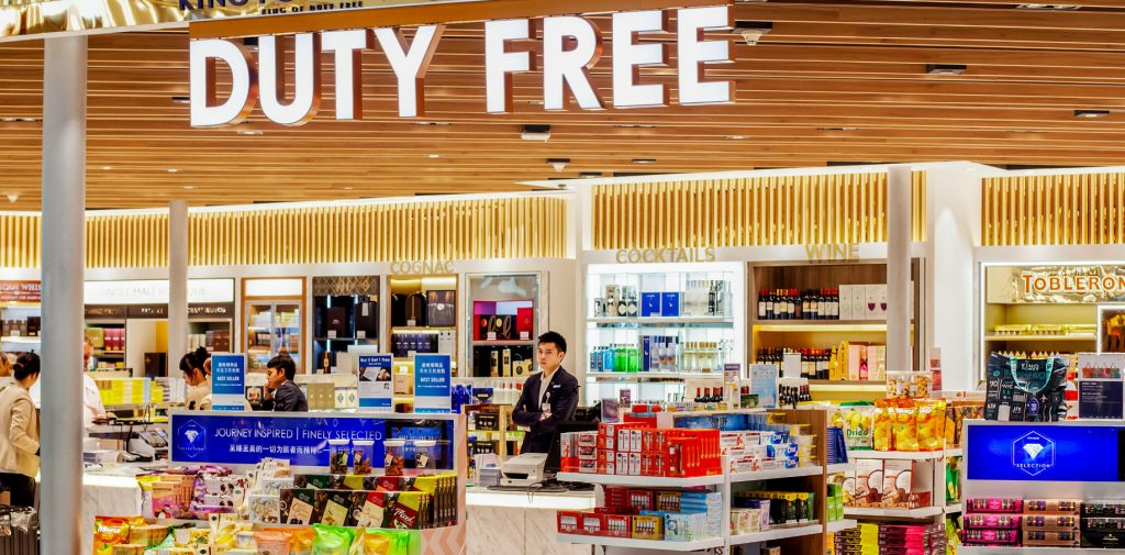 Duty free shop airport