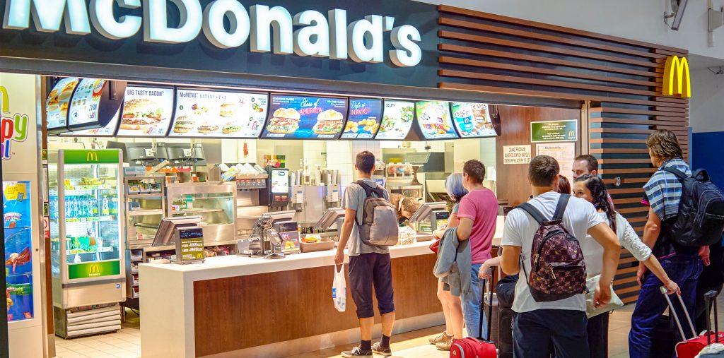 mcdonalds fast food restaurant airport terminal