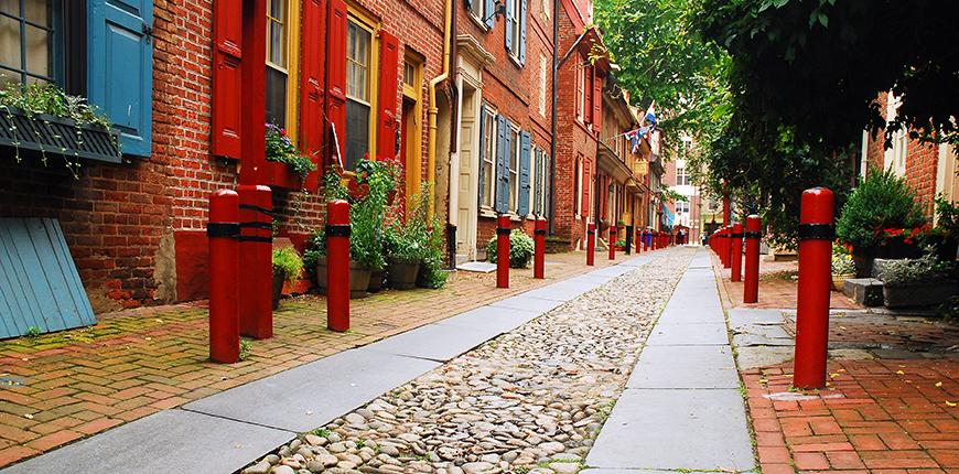 elfreths alley philadelphia.