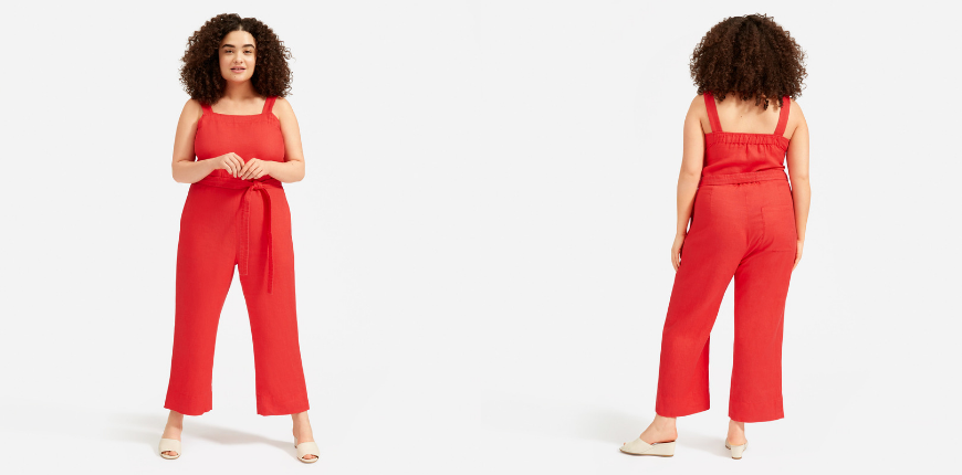 everlane the linen jumpsuit.