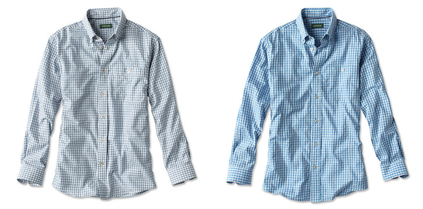 Orvis dobby weave surf's up travel shirt