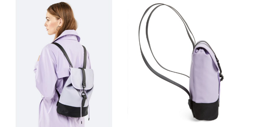 Rains waterproof drawstring backpack