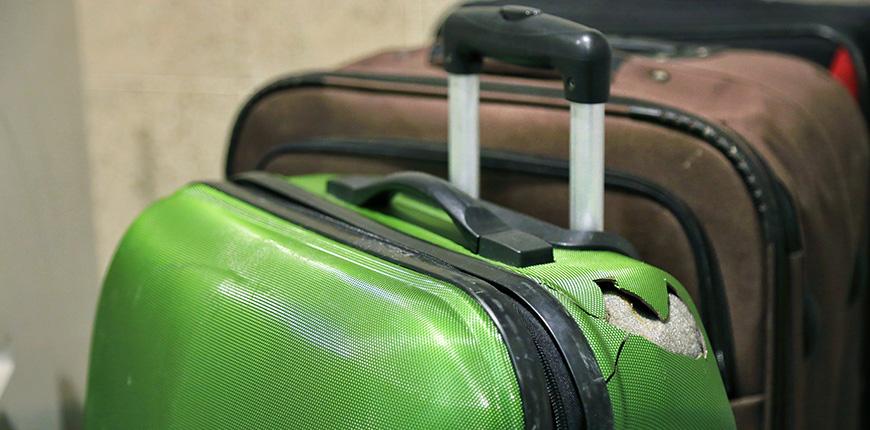 Broken luggage