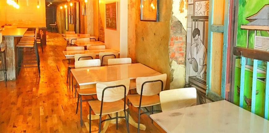 dining room at sate kampar philadelphia.