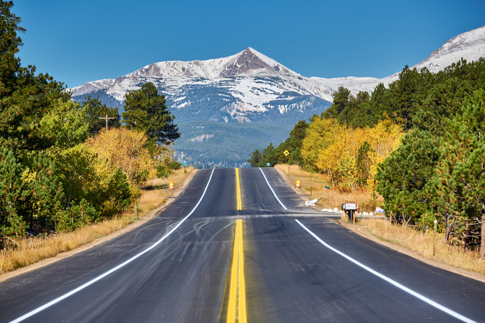highway in rocky mountains
