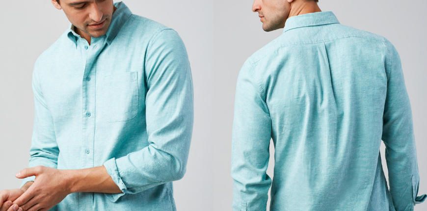 United by blue manse chambray button down