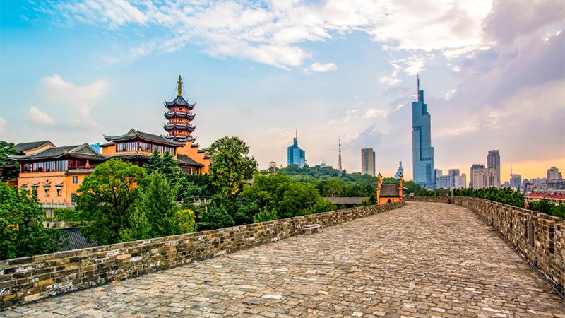 Ming city wall in nanjing, china.