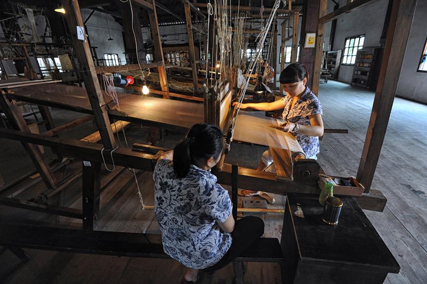 Suzhou silk mill in jiangsu province