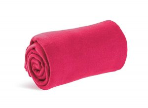 World's best cozy-soft microfleece travel blanket, 50 x 60 inch, pink, great for or lounging at home