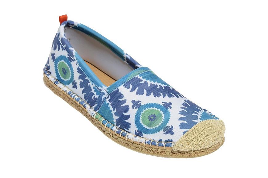 Beachcomber espadrille: womens blue suzani