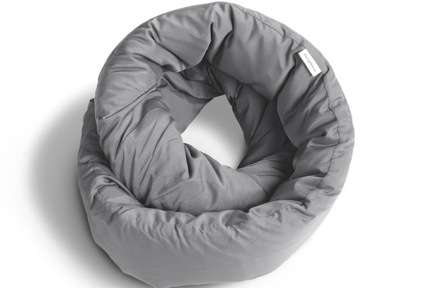 huzi infinity pillow grey.