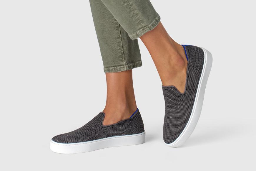 Rothy's slip on sneaker steel grey.