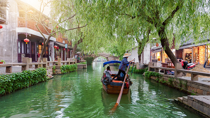 Tongli, suzhou, an ancient water town called the venice of china.