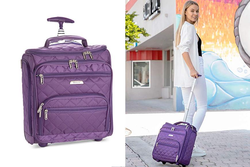 Aerolite carry-on underseat wheeled trolley luggage bag