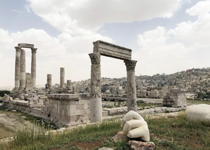 Citadel of Amman solo female travel.