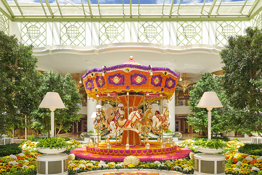 Encore boston harbor casino entrance carousel