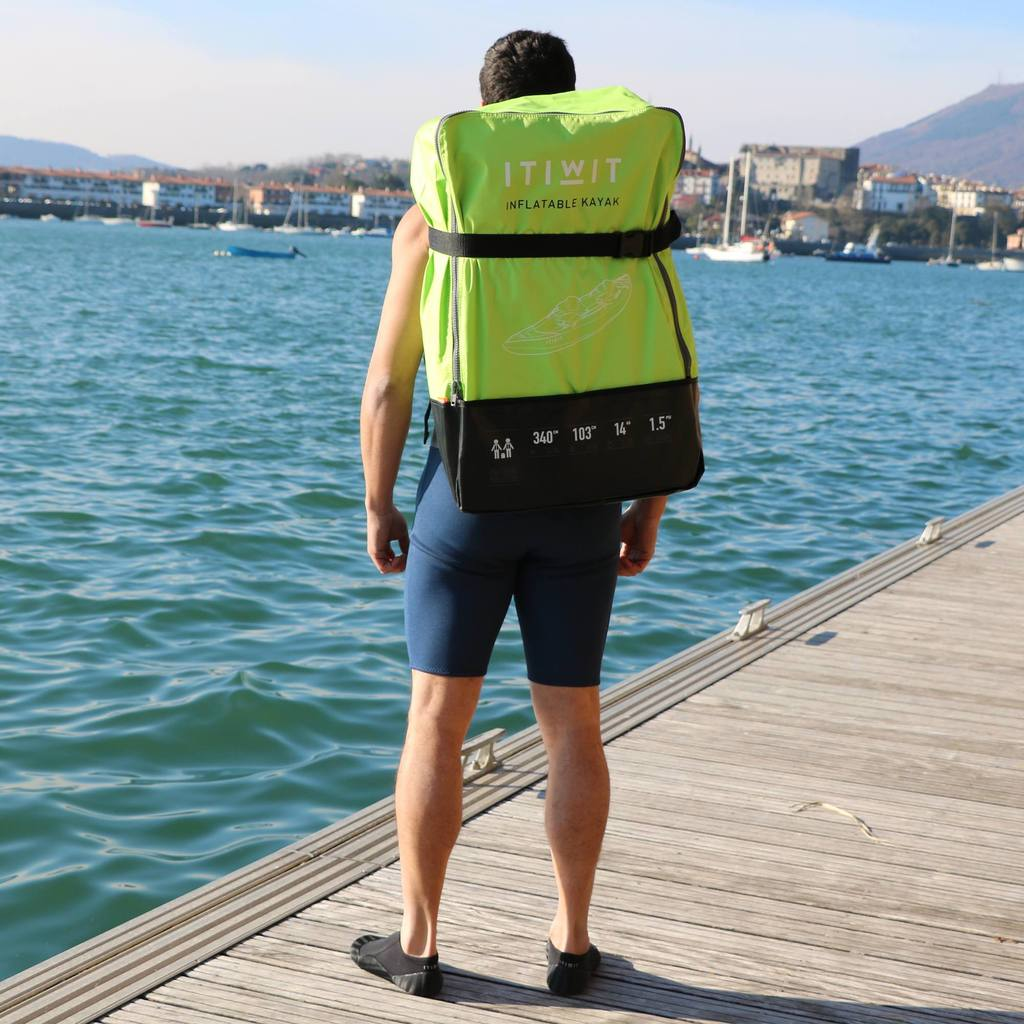 Decathlon inflatable kayak backpack