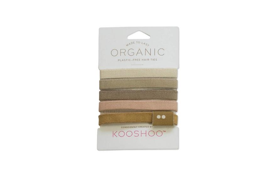 Kooshoo plastic-free hair ties.