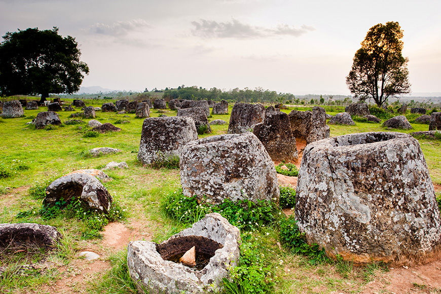 Megalithic jar sites in xiengkhuang – plain of jars