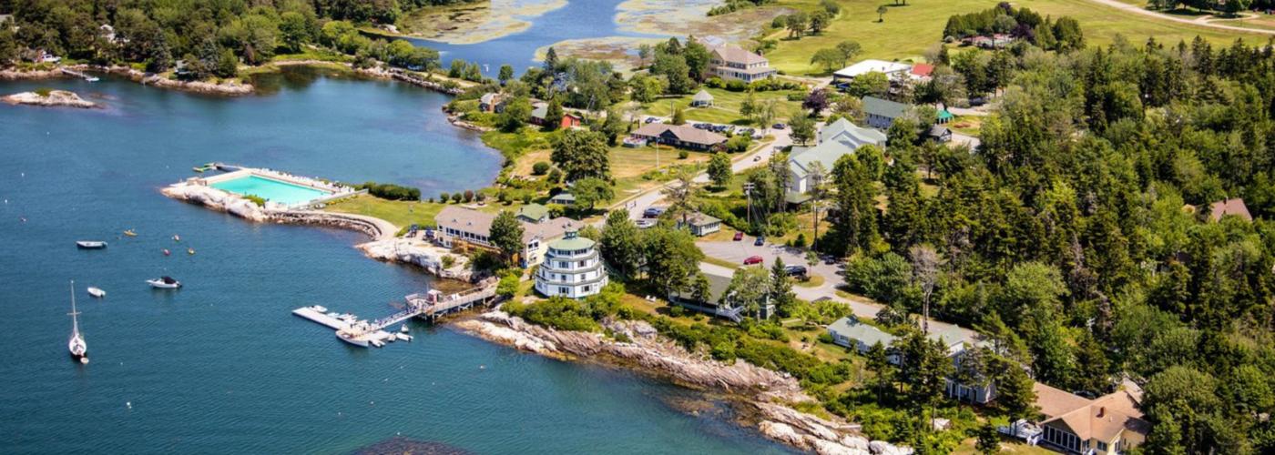 Sebasco Harbor Resort aerial.