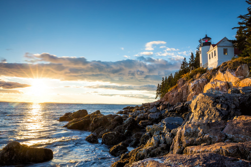 bass harbor lighthouse maine.