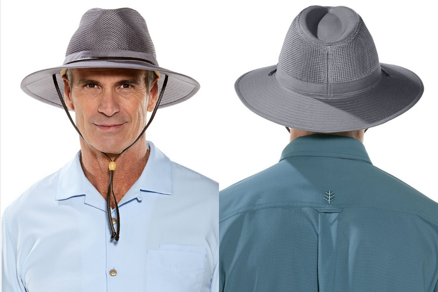 Coolibar crushable ventilated hat.