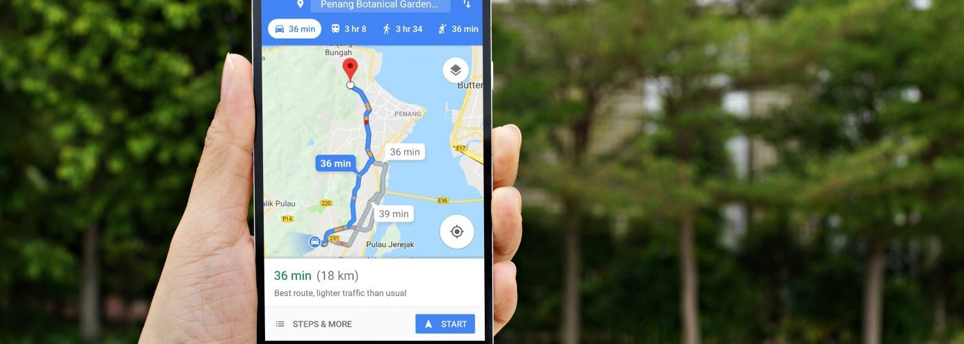 Google Maps on smartphone.