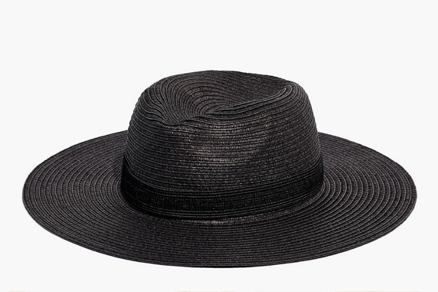 Madewell packable mesa straw hat.