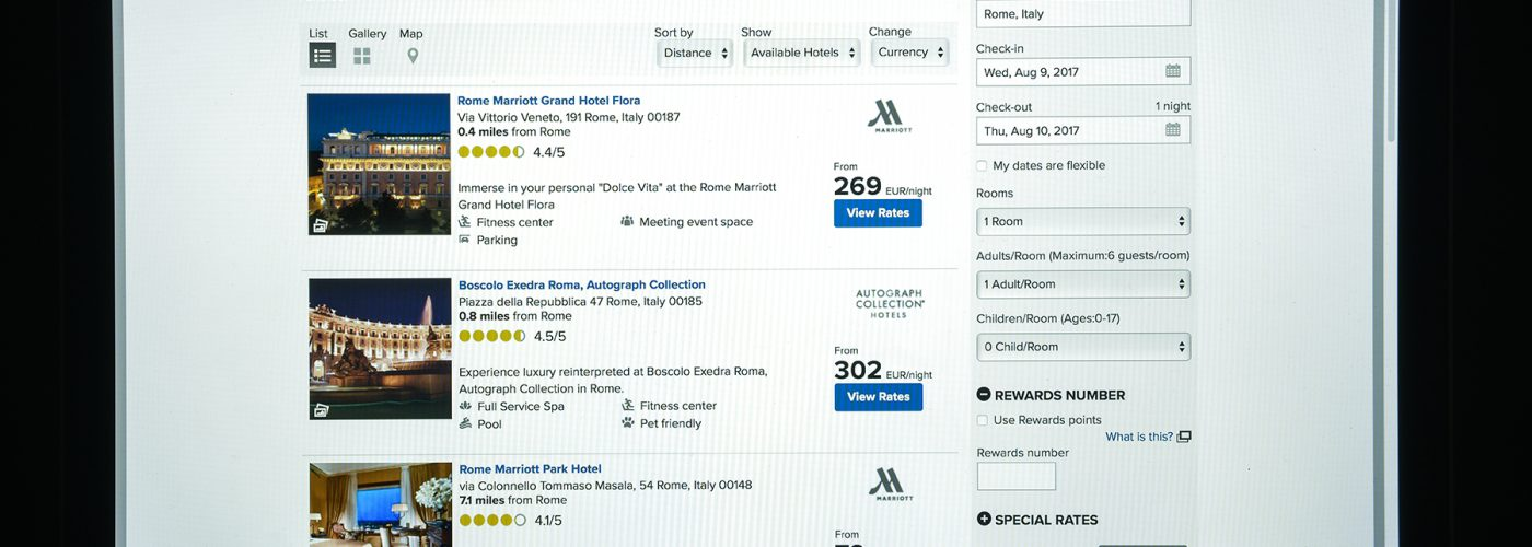 Marriott rates displayed without resort fees.